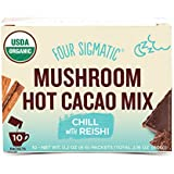Four Sigmatic Mushroom Hot Cacao, USDA Organic Cacao with Reishi mushrooms, Chill, Vegan, Paleo, 10 Count