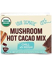 Four Sigmatic Mushroom Hot Cacao, USDA Organic Cacao with Reishi mushrooms, Chill, Vegan, Paleo, 10 Count