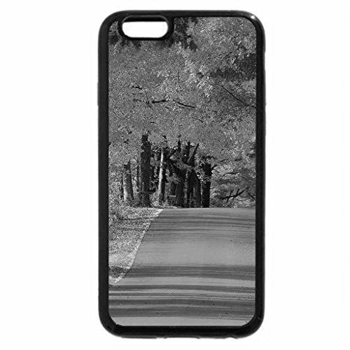 iPhone 6S Case, iPhone 6 Case (Black & White) - Autumn road