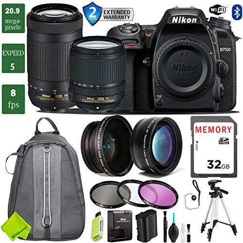 - Nikon D7500 DSLR Camera 18-140mm VR Lens Bundle (18-140mm VR & Nikon 70-300mm VR, 2 Year Extended Warranty)