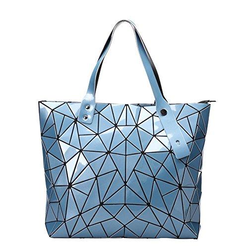 Aoligei Losange mode femme sac grande capacité version coréenne de main de tendance unique sac bandoulière sac de géométrie F