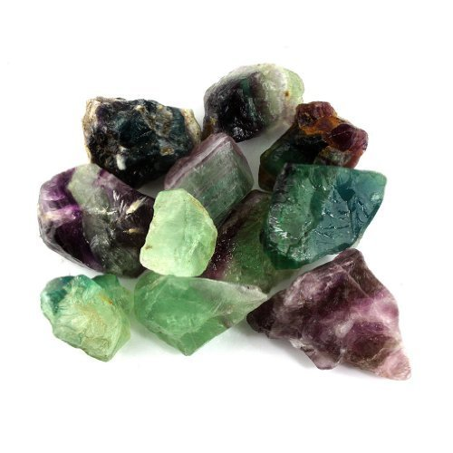 """UPC 849344012252, Crystal Allies Materials: 1lb Bulk Rough Fluorite Stones from China - Large 1"""" Raw Natural Stones for Cabbing, Cutting, Lapidary, Tumbling, and Polishing & Reiki Crystal Healing *Wholesale Lot*"""