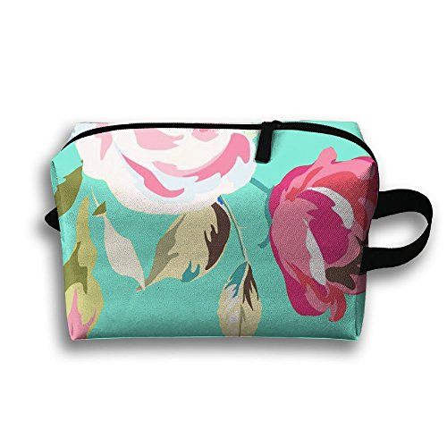 Travel Pouch Storage Bags Baskets Beautiful Garden Welcome Flower Travel Cute Cosmetic Pouch Storage 45x35cm