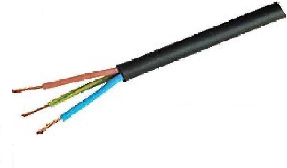 Temps noir 3 Core 1.0 mm Câble En Caoutchouc Gaine Flex 5 M affaire 3183TRS