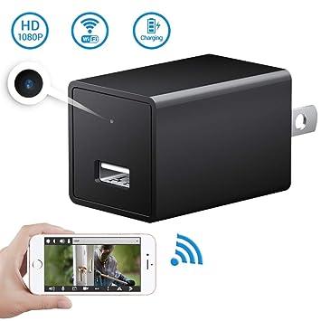 amazon com 1080p wifi mini camera soospy indoor usb wall charger rh amazon com