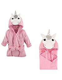 Hudson Baby Terry Cotton Bath Robe and Hooded Towel, Unicorn BOBEBE Online Baby Store From New York to Miami and Los Angeles