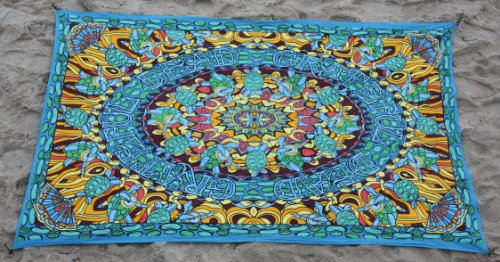 Sunshine Joy Grateful Dead Terrapin Dance Tapestry Tablecloth Wall Art Beach Sheet Huge 60x90 Inches