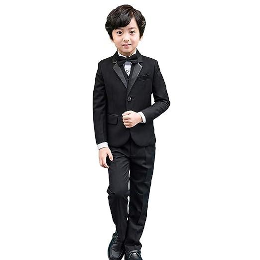 Esmoquin formal color negro para niños - Juego de 5 Pieza.