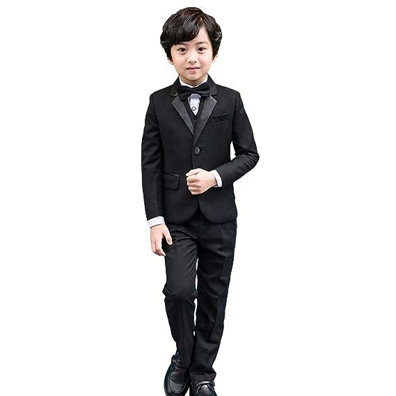 fab416add6c5b 5 pièces Smoking-garçons Noir Costume