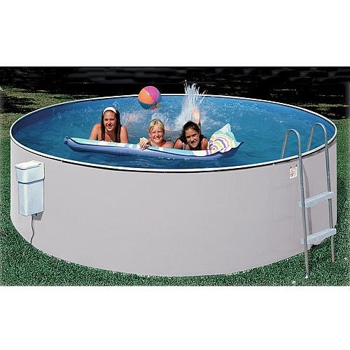 HERITAGE POOLS ECONOMY COMPLETE POOL PACKAGE WHITE FRAME/GRAY WALL 15 X (Frame Pool Package)