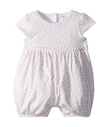 - Ralph Lauren Baby Girl Floral Cotton Romper Pink Multi (9 Months)