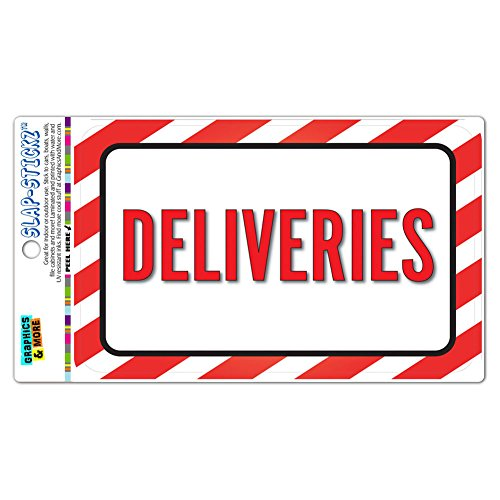Deliveries SLAP-STICKZ(TM) Premium Laminated Sticker Sign