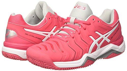 Glacier Tennis De Rouge Femme Clay Pour Asics Blanc 11 rouge Gris Gel Chaussures challenger 1ZROqTT