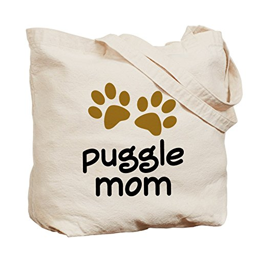 CafePress–Cute Puggle gamuza de mamá–lona bolso, bolsa de la compra