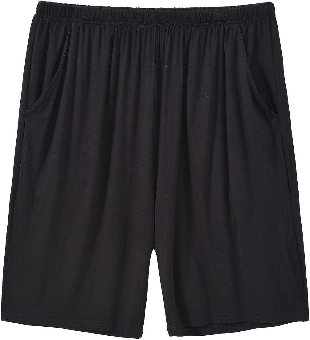JINSHI Men's Pajama Shorts Comfortable Lounge Sleep Shorts with Pockets