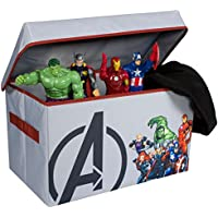 Avengers Collapsible Kids Toy Storage Chest by Marvel - Flip-Top Toy Organizer Bin for Closets, Kids Bedroom, Boys & Girls Toys - Foldable Toy Basket Organizer with Strong Handles & Design