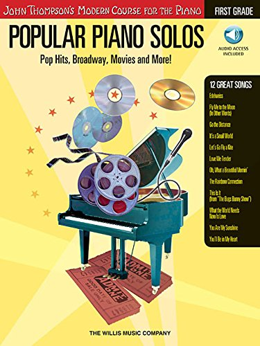 Popular Piano Solos - First Grade: Pop Hits, Broadway, Movies and More! (Book with (Blue Moon Piano Sheet)
