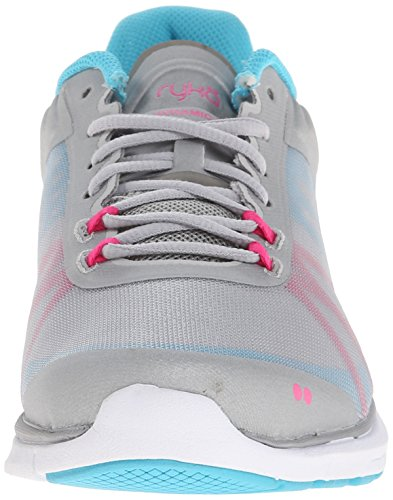 Chrome Detox Silver Shoe Athena Mist Grey PNK Blk Dynamic Blue Women's 2 Cross Cool Ryka Trainer Gr Pink q1xTa7gw