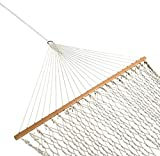"SueSport 59"" Rope Double Hammock with Spreader Bars Cotton"