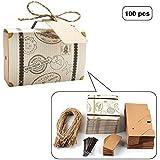 E-Goal 100Pcs/Pack Mini Suitcase Wedding Favor Candy Box for Wedding Party Decoration