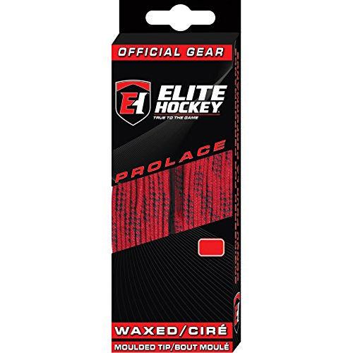 Elite Hockey Prolace Waxed Hockey Skate Laces (Red, 120