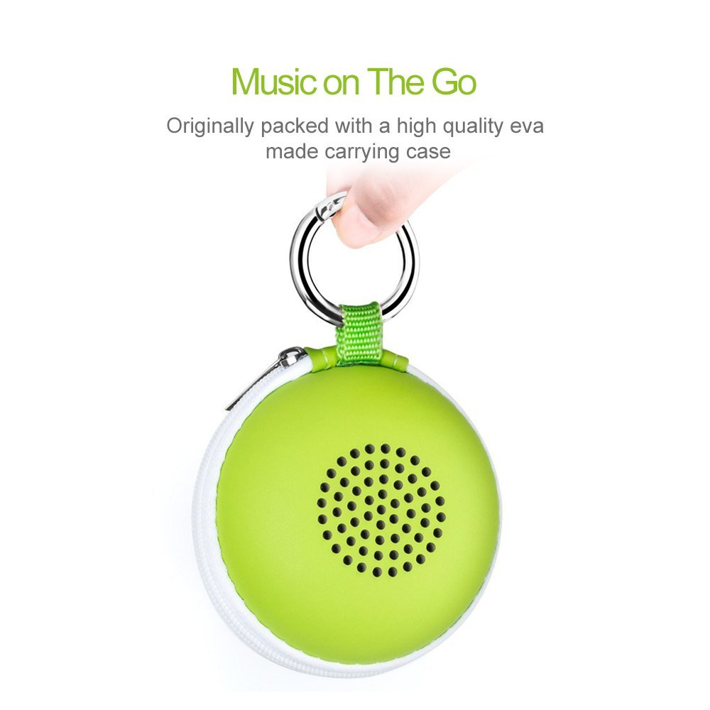 EWA A106 Portable Mini Bluetooth Speaker with Passive Radiator, Powerful Sound, Enhanced Bass, Tiny Body Loud Voice, Perfect Wireless Speaker For Shower, Travel, Outdoor, Echo Dot, Hiking and More by Ewa (Image #6)