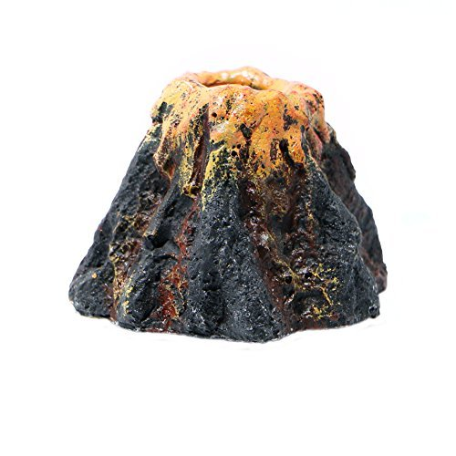 Delight eShop Aquarium Volcano Shape & Air Bubble Stone Oxygen Pump Fish Tank Ornament Decor
