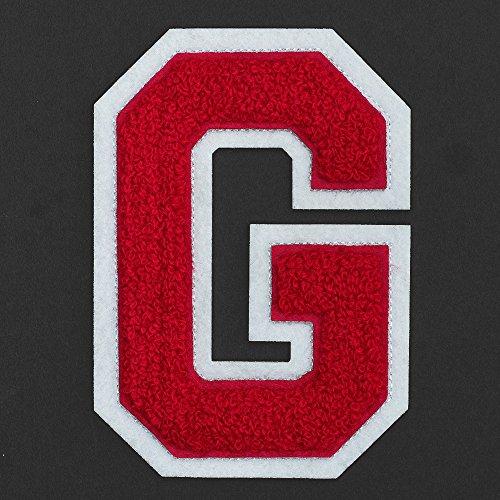 Letter G - Chenille Stitch Varsity Iron-On Patch by pc, 4-1/2