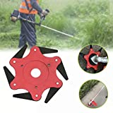 Besdas Trimmer Head Replacement 6 Teeth Mower Blade Universal Fit 99% Strimmers and Brush Cutters Mowing Head Tool