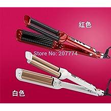 New Utomatic Ceramic Hair Curler Curling Iron Styling Tools Hair Styler Curler Hair Care Deep Wave Roller Triple Barrels (Random Color)