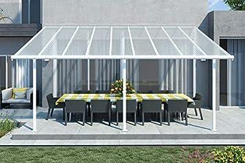 Tejado para terraza de alta calidad, de aluminio/veranda 550 x 300 (an. x al.) / alero/pérgola Palram Feria blanco: Amazon.es: Bricolaje y herramientas