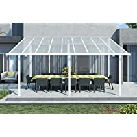 Tejado para terraza de alta calidad, de aluminio/veranda 550 x 300 (an. x al.) / alero/pérgola Palram Feria blanco