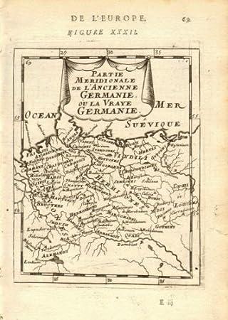 Germanische Stämme Karte.Amazon De Antiqua Print Gallery Deutschland Germanischen Stämme La