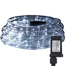 LED Rope Lights Waterproof Strip Light 33ft 240 LEDs 24V Daylight White,Light bar for Outdoor Indoor Kitchen Patio Pool Stairs Landscape Decorations