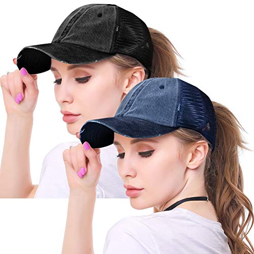 High Ponytail Hole Baseball Hats...