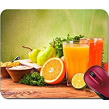 Liili Mousepad ID: 22760604 Fresh fruits vegetables and juice isolated on wood