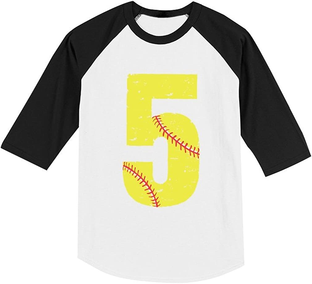 5 /& Awesome Looks Like 5th Birthday 3//4 Sleeve Baseball Jersey Toddler Shirt