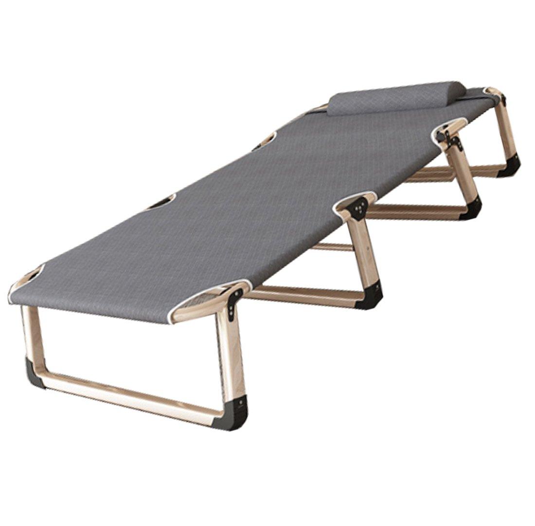 JJY Drei Falten Bett Quadratrohr Erweiterung Verstärkung Klappbett Einzigen Klappstuhl Mittagspause Sessel Outdoor Stahlrohr Escort,Navy