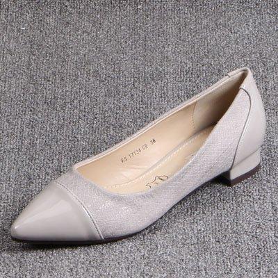Bajos Zapatos Hilo Único Cosido De Dama El Un Gris Terminar Solo GAOLIM Zapatos Luz Punto Zapatos Del Con xzEnXq4Y