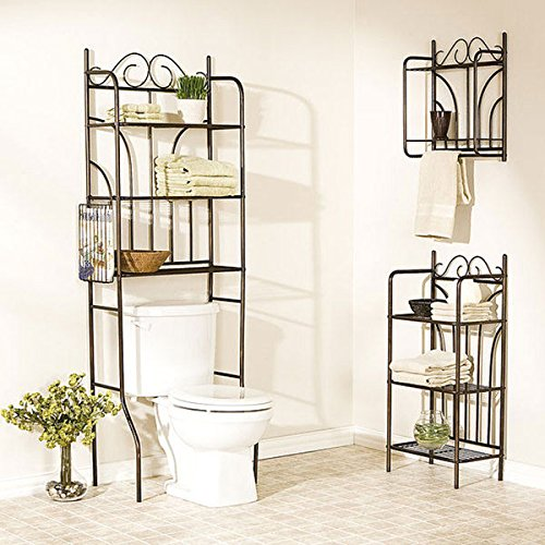 3-Piece Bathroom Collection | Addison Bathroom Shelving Over Toilet by Upton Home