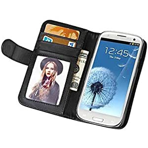 ZCL Soft Touch Wallet PU Leather Case for Samsung Galaxy S3 I9300