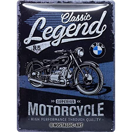 Nostalgic-Art 23249 de BMW Classic Legend | Retro Cartel de Chapa | Vintage de Cartel, decoración de Pared, Metal, 30 x 40 cm 30 x 40 cm, Multicolor, ...