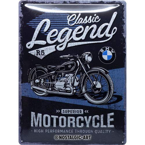 Vintage /30/x 40/cm 30/x 40/cm /Panneau R/étro Plaque en t/ôle 30/x 40/x 0,2 M/étal/ Multicolore D/écoration Murale Nostalgic-Art 23249/BMW de Classic Legend/