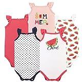 Hudson Baby Sleeveless Bodysuits, 5 Pack, Watermelon, 12-18 Months