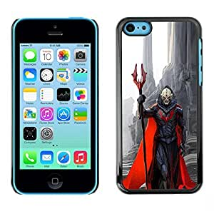 TaiTech / Hard Protective Case Cover - Red Cape Monster Death - Apple iPhone 5C