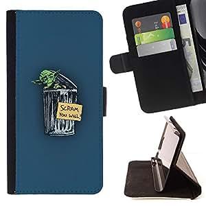 Momo Phone Case / Flip Funda de Cuero Case Cover - Divertido Hobo Yoda - Sony Xperia Z3 D6603