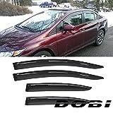 Deebior 4pc Sun/Rain Guard Vent Shade Window Visors Fit 12-15 Civic 4D/4DR Sedan