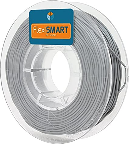 FlexiSMART Gris 250 g. Filamento Flexible TPU 1.75mm para Impresora 3D - Flexible Filament for 3D Printing - TPE Filament, TPU Filament, Elastic ...