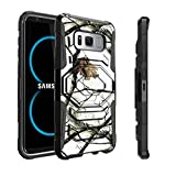 #9: Samsung Galaxy S8 Plus Camo Case | S8 Plus Case | S8+ Case by Untouchble [Max Alpha Holster] Dual Layer [Kickstand] Hybrid Armor [Swivel Belt Holster Clip] - Snow Hunt Camo