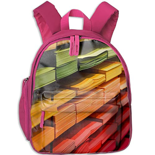 Bookstore Color Colorful Waterproof School Bag Durable Travel Camping Backpack